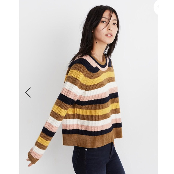 Madewell Chunky Wool Tilden Sweater Size M